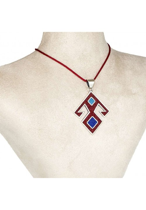 Coral-Lapis-Turquoise Pendant