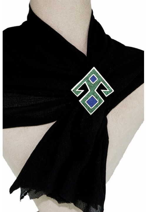 Malachite Collar Pin