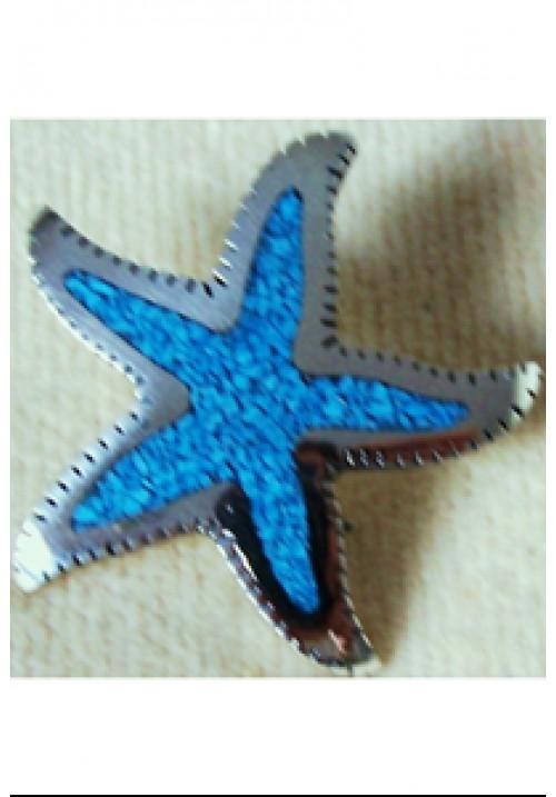 Starfish Turquoise Brooch