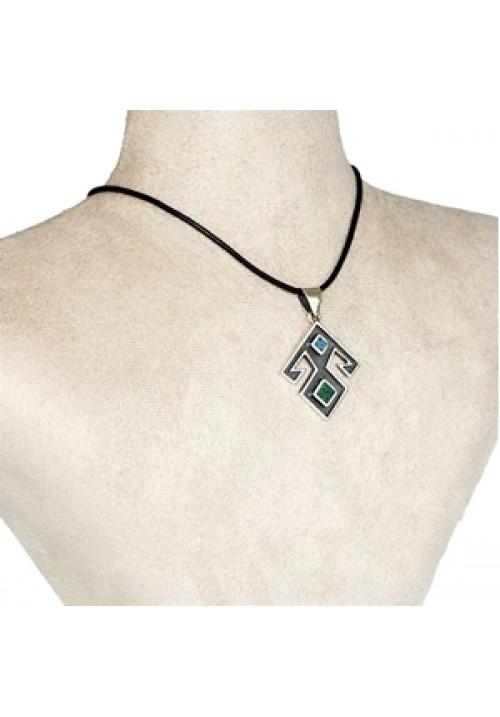 Turquoise-Malachite Pendant